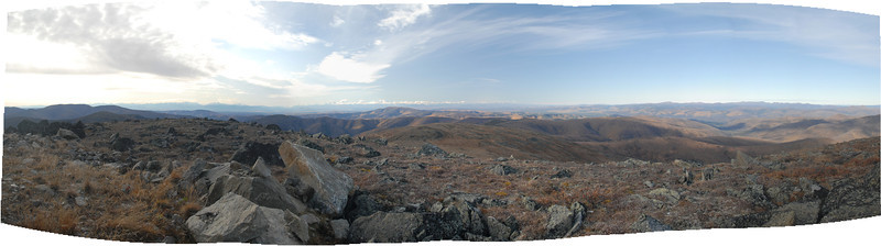 This is a pano from the other side of the mountaintop and stretches from South to WestNorthWest.