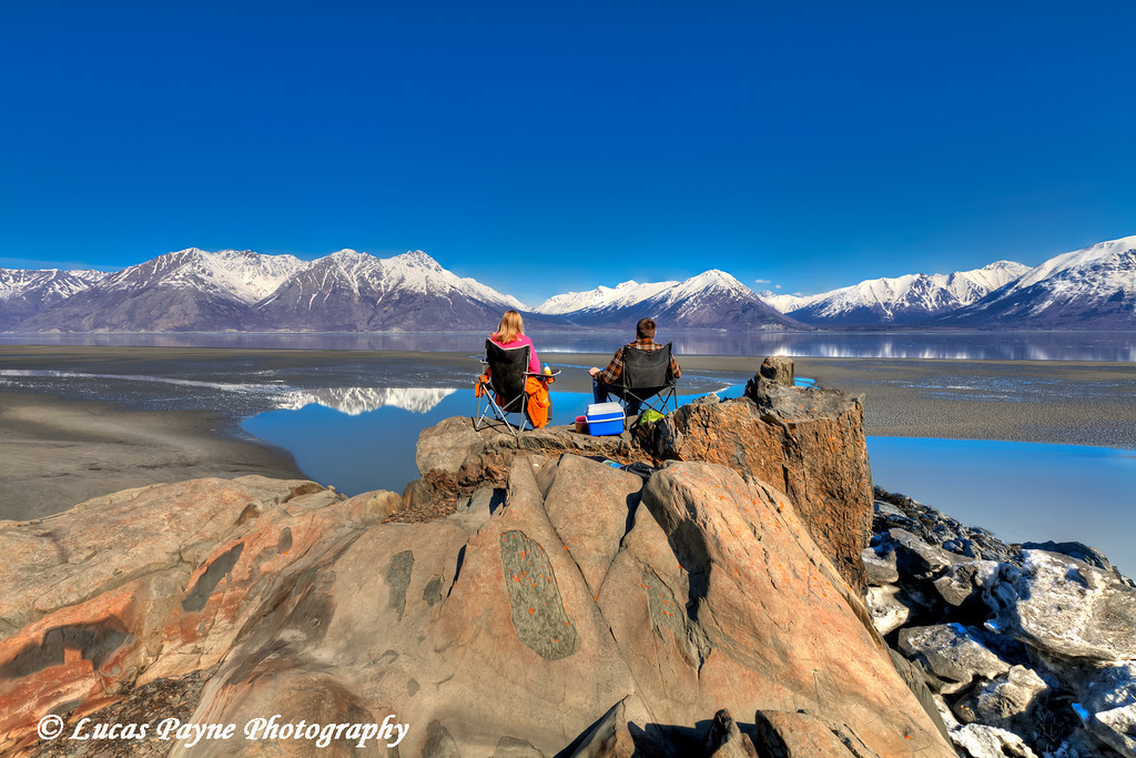 Enjoying the spring sunshine on the shoreline of Turnagain Arm near Hope, Alaska<br /> April 16, 2011<br /> HDR