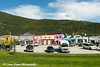 Stores along Front Street in Historic Dawson City, Yukon, Canada.<br /> <br /> June 29, 2014
