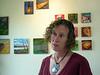 M.K. MacNaughton in her studio