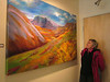 Largest painting in the show, by local artist M.K MacNaughton