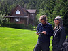 Outside Haines, my friends Irene and Ben host us in their off-the-grid home