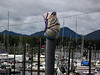 Art decorates Ketchikan's marina.