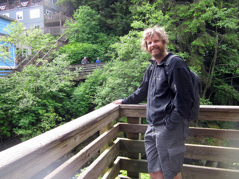 Nathan as we sightsee in ketchikan