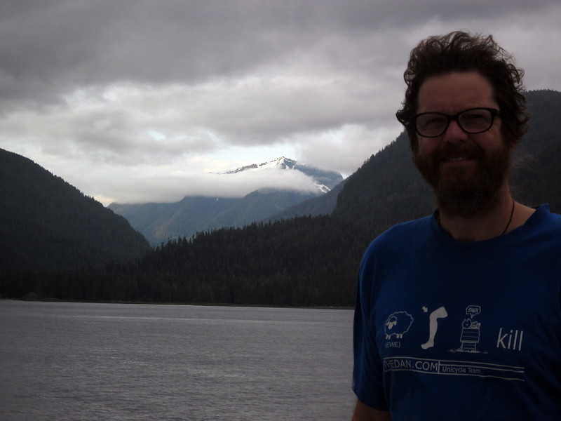 The Kennicott heads north; Nathan, the unicyclist, enjoys. (t-shirt-ewe-knee-sigh-kill)