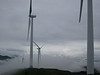 We admire Kodiak's hilltop huge wind turbines