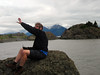 Time out for Nathan  to fly his drone at Beluga Point,  at Turnagain Arm