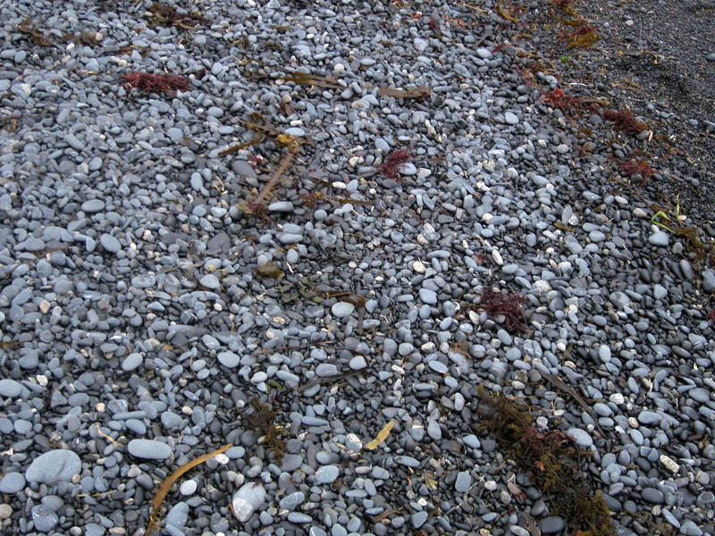 Stony beach surface--tempting for jugglers