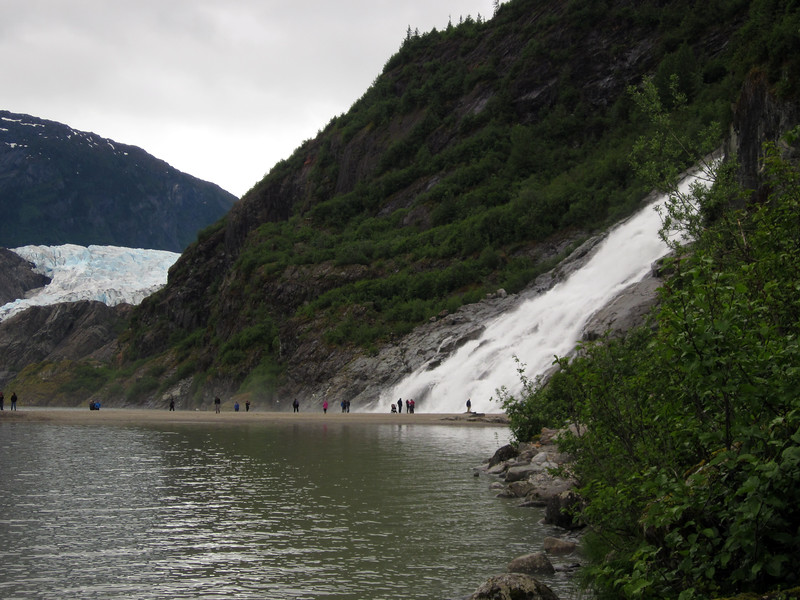 Walking to popular Nugget Fall--farther from the Glacier than earlier