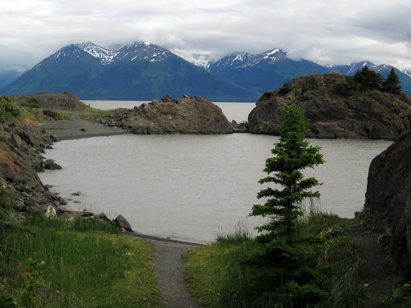 Beluga Point--and other  road turnouts, offer magnificent Turnagain Arm views.