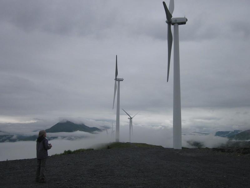 -Kodiak made news as an early Alaska community to  welcome wind energy