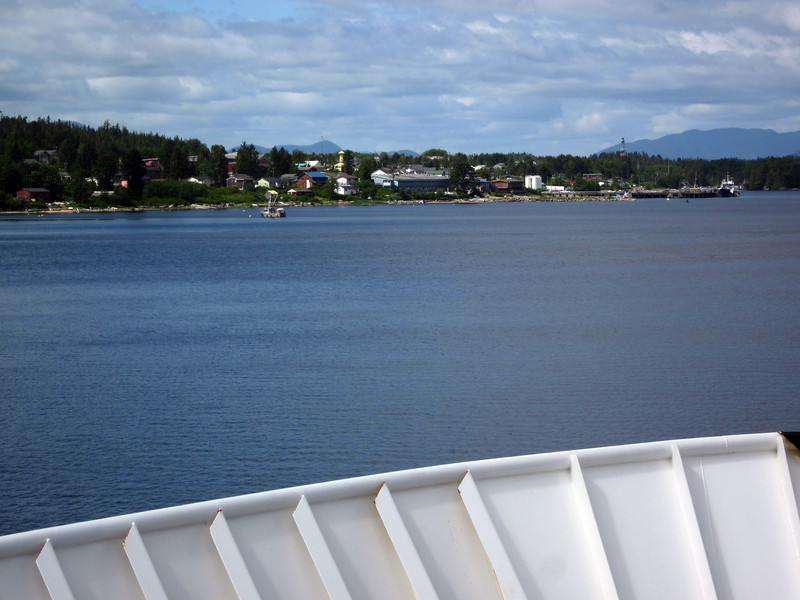 All June 11 is in Canadian waters; passing a small village