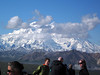 While I watch clouds slowl but steadily gather over the face of Denali.