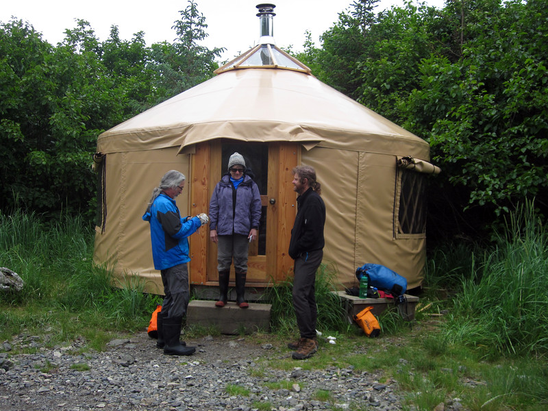 The yurt at Quarry Point where we stayed over night.
