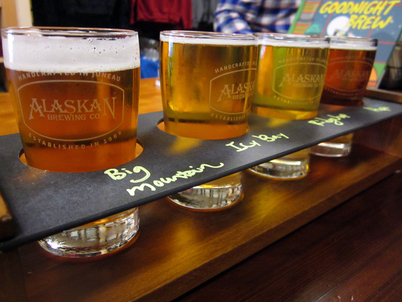 A visit to the Alaskan brewery--Nathan's sampler