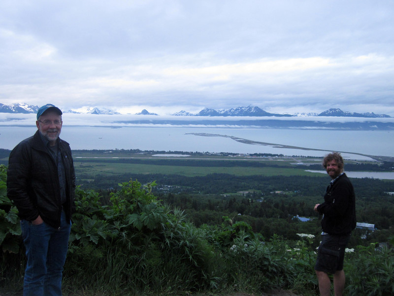 Our wonderful Homer friend and host Tom Kizzia takes us to a hilltop view above Homer