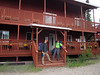 Back for a last night at the outside-Denali Nenana River cabins we stayed at before