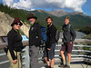 Walking along the Nenana River after dinner--back to our cabin