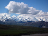 The long row of Alaska Range peaks east of Denali