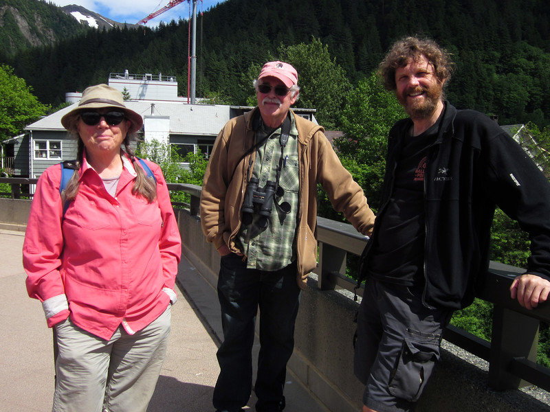 With Pat and Mike Tobin in downtown Juneau