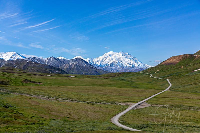 Denali, tallest mountain in North America - 20,310 feet.