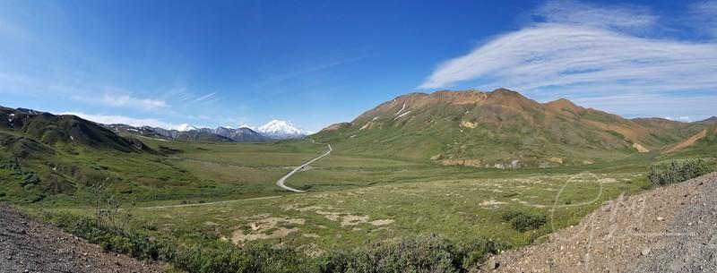 Phone panorama of Denali