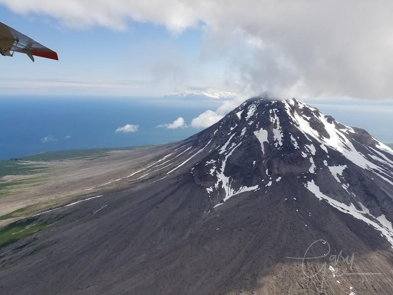 Augustine Volcano - Last major eruption was 2006 - phone shot