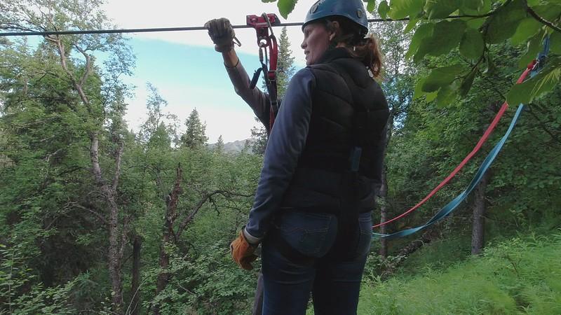 Video Zip-Lining in Alaska
