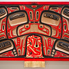 Contemporary carved wooden artworks, Alaska Historical Collections, Juneau