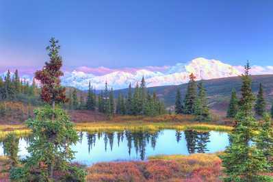 Mount Denali outside of Lodge
