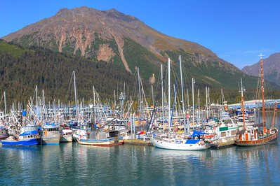 Boats at Resurrection Bay, Seward Alaska