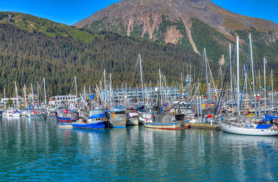 Boats docked at Seward Alaska