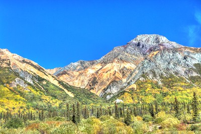 Mountain view, Glenn Scenic Highway Alaska