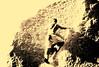 AK-2003-413b Rock climbing Capt Cook Park