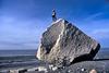 AK-2003-403a Amy climbing Capt Cook beach