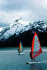Wind surfers in Turnagain Arm.