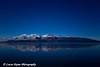 Moonlight over Turnagain Arm near Anchorage.<br /> December 31, 2009