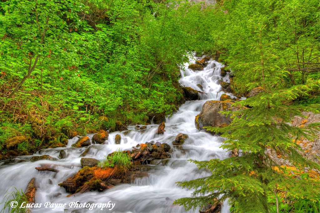 Pioneer Falls along the Knik River road in Alaska. (HDR)<br /> June 09, 2010