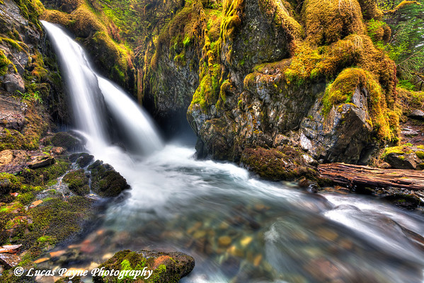 Virgin Creek Falls near Girdwood<br /> June 14, 2011<br /> HDR