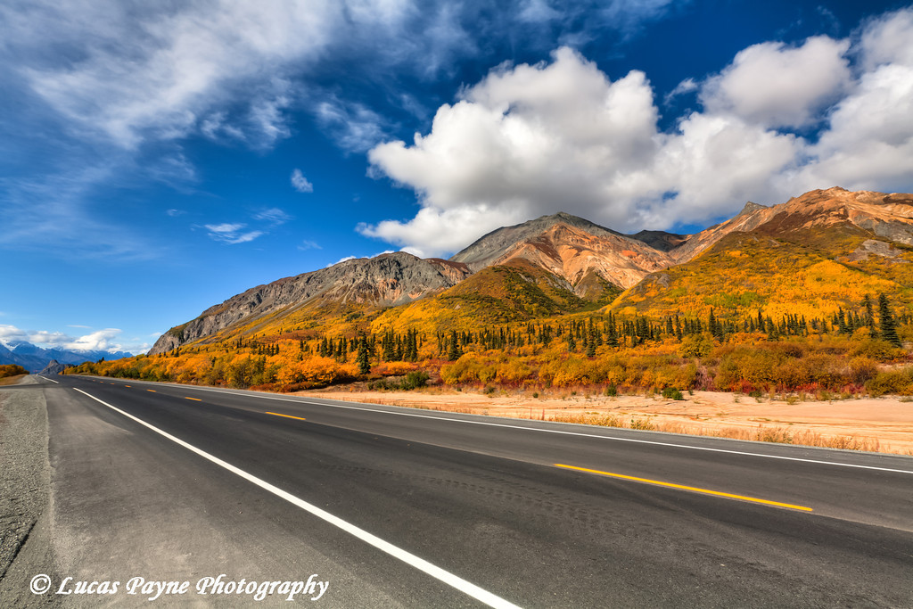 Fall colors along the Glenn Highway near Sheep Mountain<br /> HDR<br /> September 08, 2011