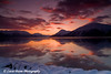 Sunrise over the Chugach Mountains and Turnagain Arm in Alaska.<br /> November 15, 2008