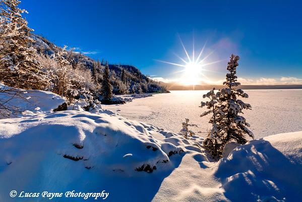 Skilak Lake<br /> HDR<br /> January 22, 2011