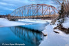 Old Matanuska River Bridge outside Palmer, Alaska.<br /> HDR<br /> January 24, 2011