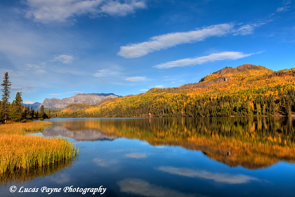 Fall colors reflected in Bonnie Lake on a sunny autumn day<br /> HDR<br /> September 08, 2011