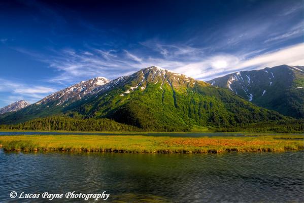 Tern Lake and The Kenai Mountains.<br /> July 17, 2010