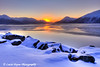 Sunrise over the Chugach Mountains and Turnagain Arm<br /> November 02, 2011<br /> HDR