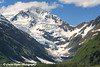 Scenic view of Byron Peak and Glacier on a sunny day in Portage Valley, Southcentral Alaska.<br /> <br /> June 05, 2014
