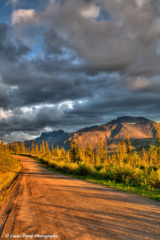 The Nabesna Road at Sunset in Wrangell-St. Elias National Park and Preserve<br /> June 11, 2011<br /> HDR