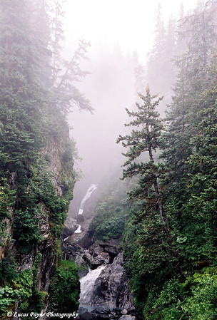 Misty Waterfall near Valdez, Alaska
