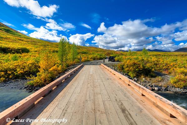 Peters Creek Bridge on the Petersville Road with beautiful fall foliage in the Peters Hills<br /> HDR<br /> September 01, 2011